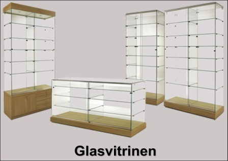 glasvitrine serie laminato. Black Bedroom Furniture Sets. Home Design Ideas