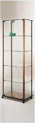 showcase with aluminium profile measure 55x45x180 cm. Black Bedroom Furniture Sets. Home Design Ideas