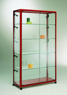 vitrine schmuckvitrine standvitrine mit aluminium rahmen. Black Bedroom Furniture Sets. Home Design Ideas