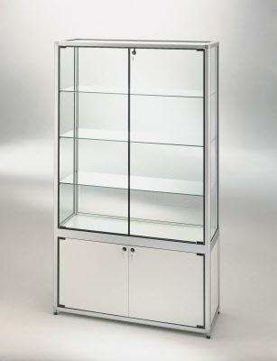 vitrine ausstellungsvitrine mit unterschrank ma e 100x52x180 cm. Black Bedroom Furniture Sets. Home Design Ideas
